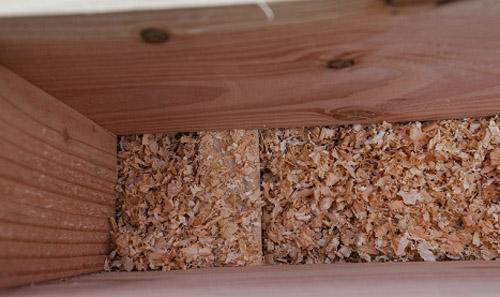 утепление деревянной щепой