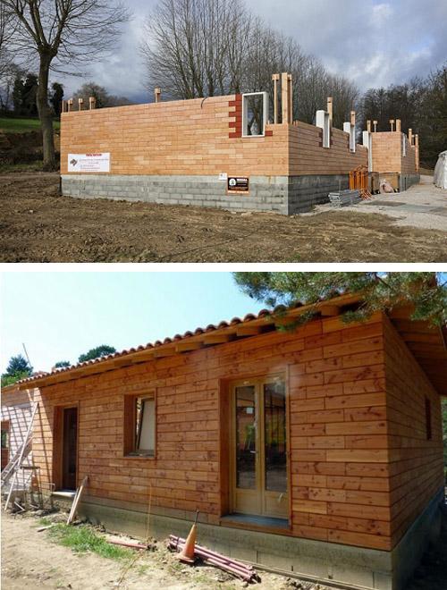 дома из деревянных кирпичей