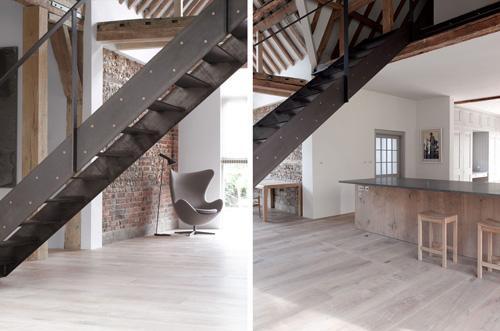 передвижная лестница в интерьере