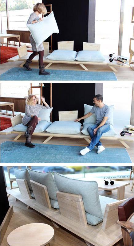 дизайн разборного дивана