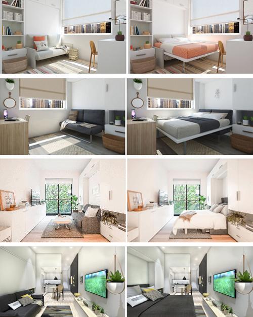 откидные кровати в маленьких квартирах