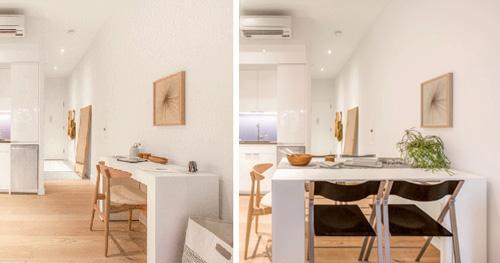 письменный/обеденный стол в маленькой студии