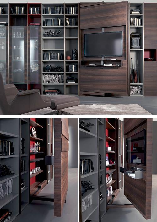 невидимый телевизор в шкафу