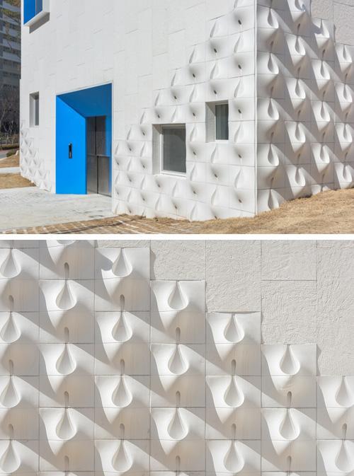 дизайн фасада с объемными панелями