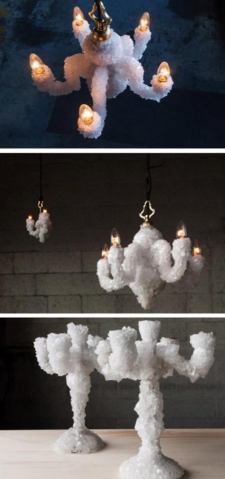 дизайнерские светильники с кристаллами