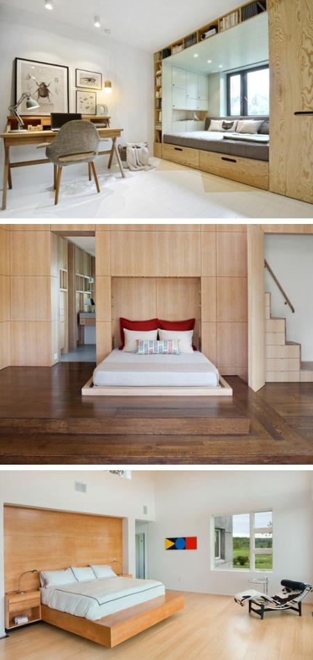 матрас на подиуме вместо кровати