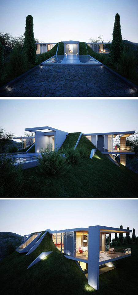 бетонный частный дом