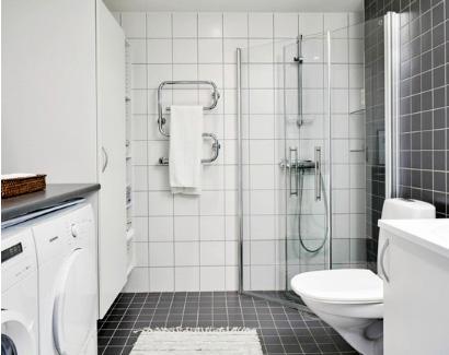 угловой душ строительного исполнения