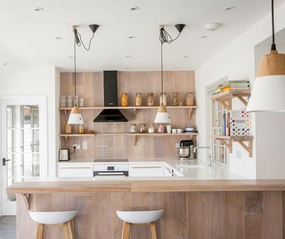 встроенные и потолочные светильники в кухне