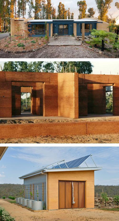 фасады глинобитных домов