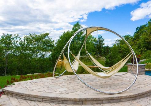 скульптурная стойка для трех гамаков
