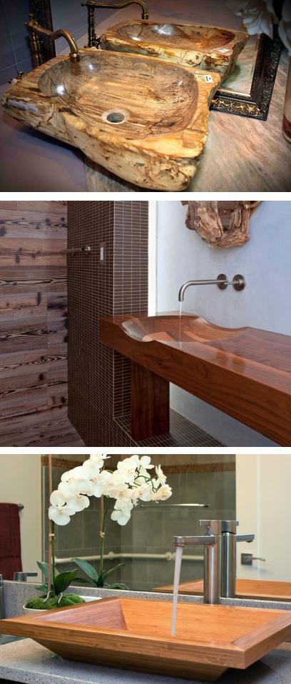 современные деревянные раковины