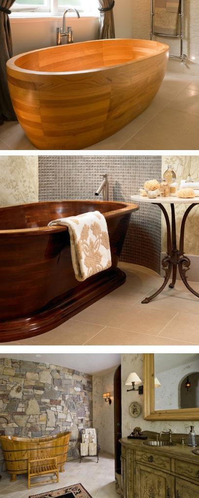деревянные ванны традиционного стиля