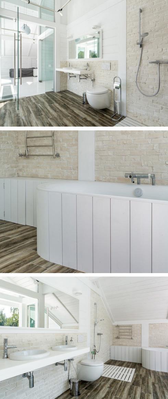 ванная со стеклянной стеной