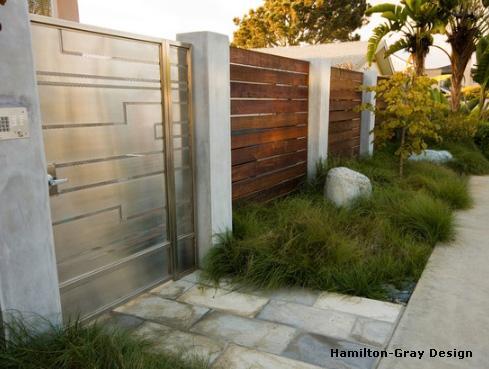 стальные полированные ворота