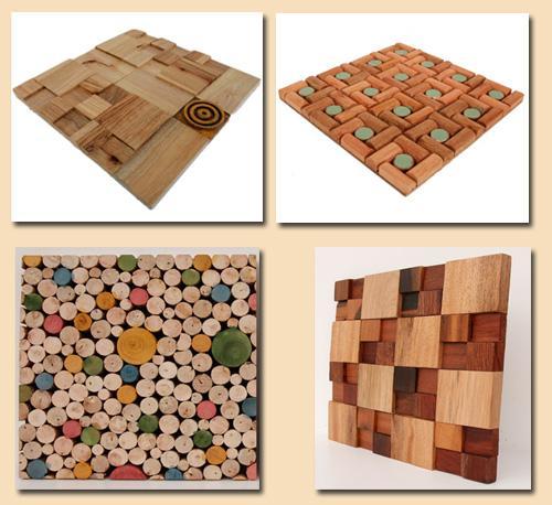 современные виды деревянной мозаики