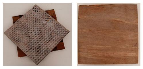 подложка деревянной мозаики