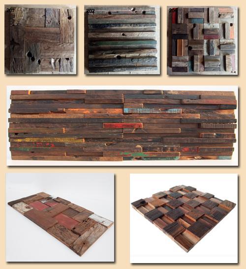 состаренная мозаика из дерева