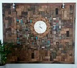 настенное панно из объемной деревянной мозаики