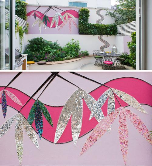 мозаичное панно в дизайне двора