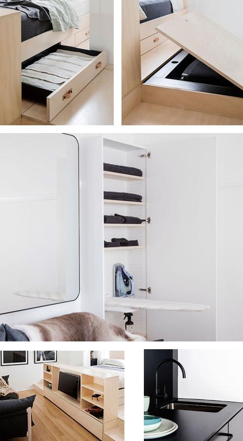 встроенные системы хранения в маленькой квартире