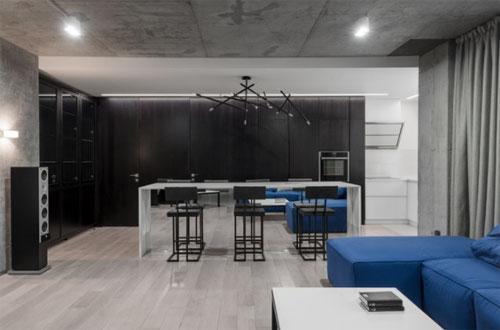 брутальная кухня лофт в квартире