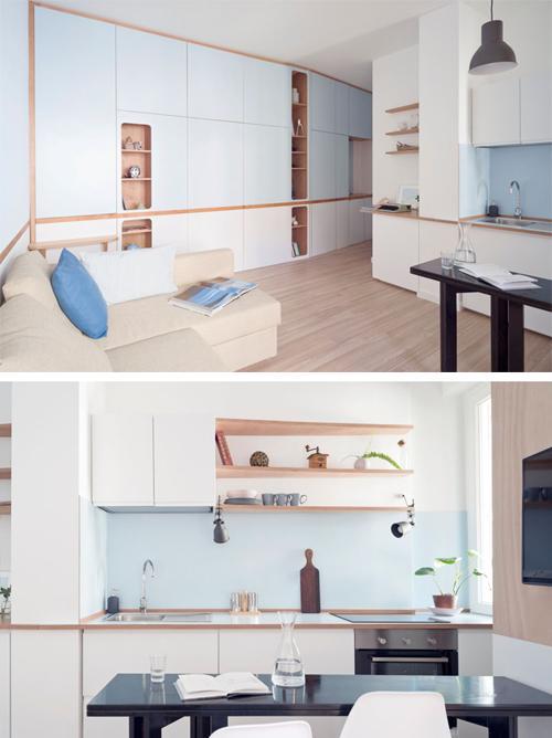 компактная кухня-гостиная